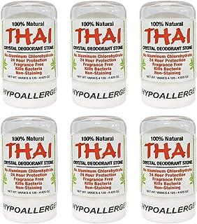 Thai Natural Crystal Deodorant Stone 4.25 oz (Pack of 6)