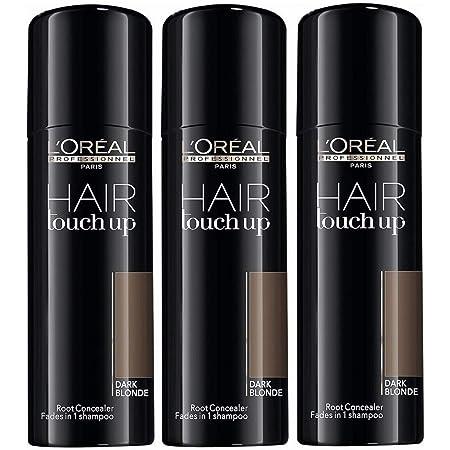 3 x LOREAL Hair Touch Up Spray dunkelblond/dark blonde á 75ml