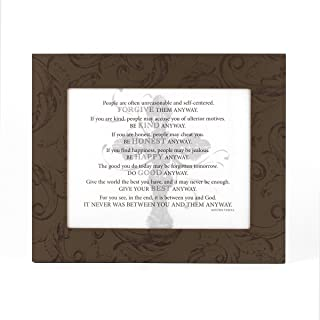 Mother Teresa Quotes in Painted Wooden Frame