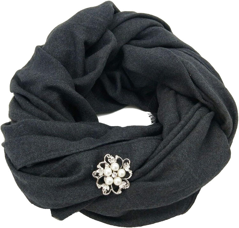 NALEDI Women's Fashion Scarves Cotton Hemp scarf Pure color travel Warm Shawl And head Scarves