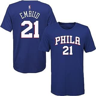 Joel Embiid Philadelphia 76ers Blue Youth Name & Number T-Shirt