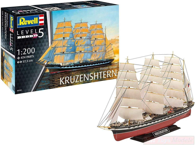 marca Revell RV05159 Russian Barque KRUZENSHTEM Kit 1 1 1 200 MODELLINO Model Compatible con  ¡no ser extrañado!