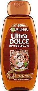 Garnier Ultra Dolce Shampoo Lisciante Cacao E Olio di Cocco, 300 ml