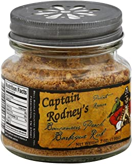 Captain Rodney's Private Reserve Boucaneer's Rub, Peach Barbeque, 7.0 Ounce