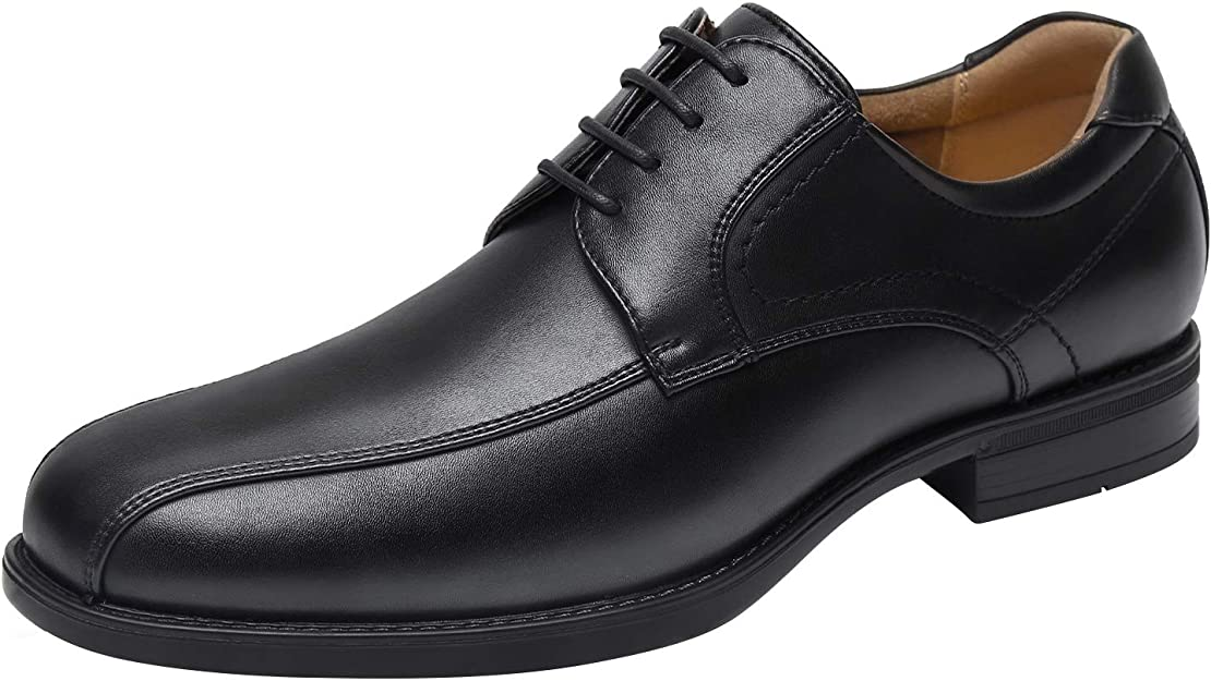 Men's 1950s Shoes Styles- Classics to Saddles to Rockabilly Kararao Mens Oxford Shoes Classic Dress Shoes Casual Business Formal Shoes No Slip Lace up Leather Shoes Square Toe Lightweight Breathable  AT vintagedancer.com