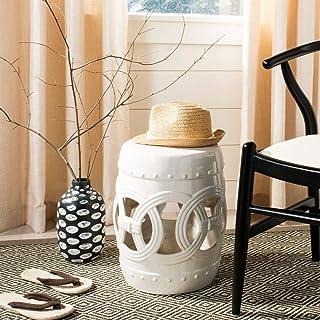 Best Safavieh Double Coin Ceramic Decorative Garden Stool, Antique White Review