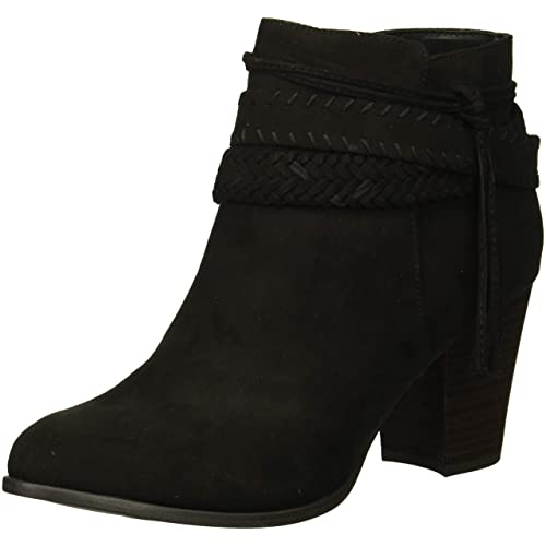 Womens Harper Black Low Wedge Ankle Boots Size