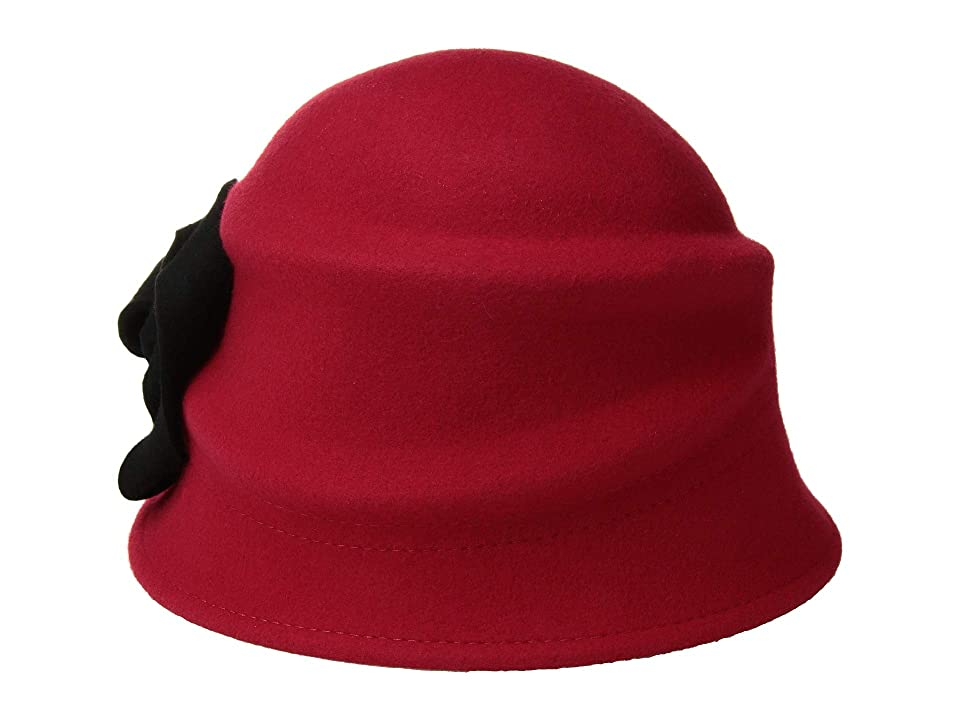 Women's Vintage Hats | Old Fashioned Hats | Retro Hats Betmar Alexandrite ScarletBlack Caps $60.00 AT vintagedancer.com