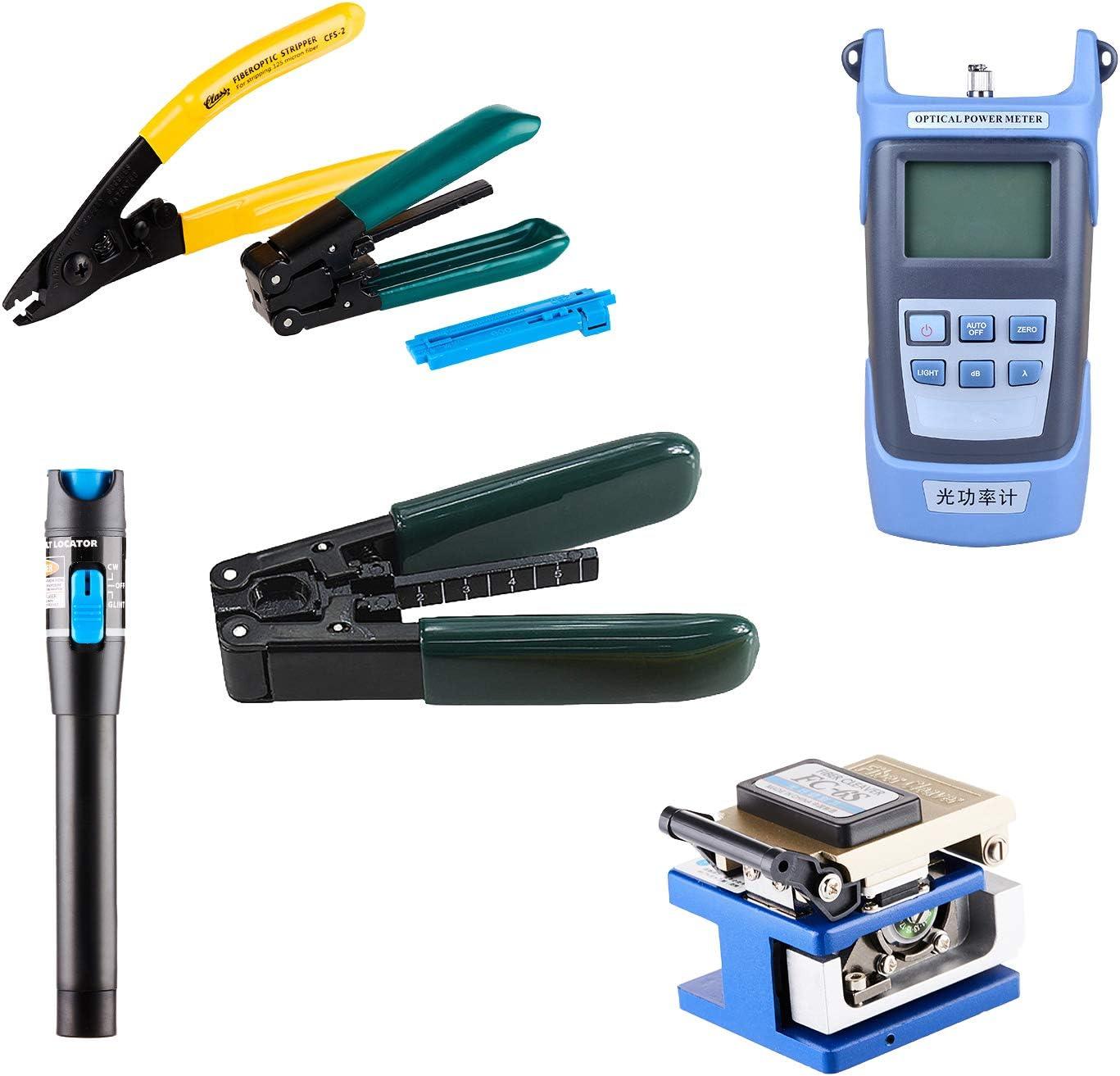 FTTH Empalme de empalme de fibra óptica Kit de pelado con cuchilla de fibra FC-6S FTTH Kit de empalme 18 en 1