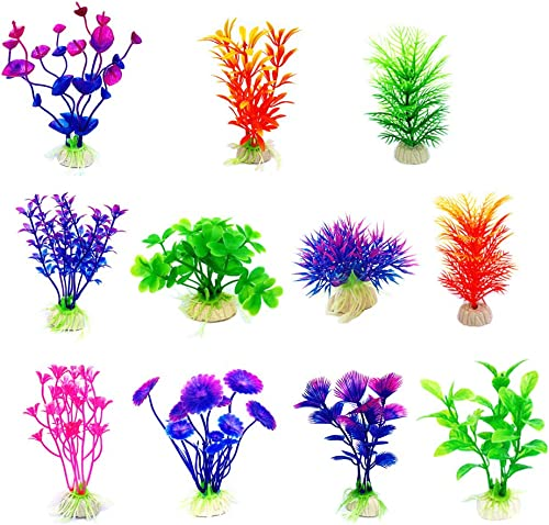 CousDUoBe Artificial Aquatic Plants Small Aquarium Plants Artificial Fish Tank Decorations,Used for Household and Off...