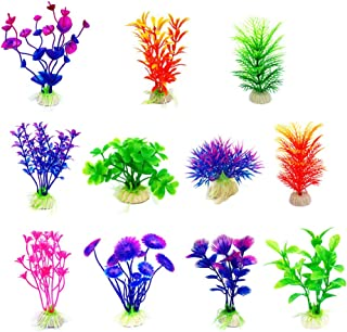 CousDUoBe Artificial Aquatic Plants Small Aquarium Plants Artificial Fish Tank..