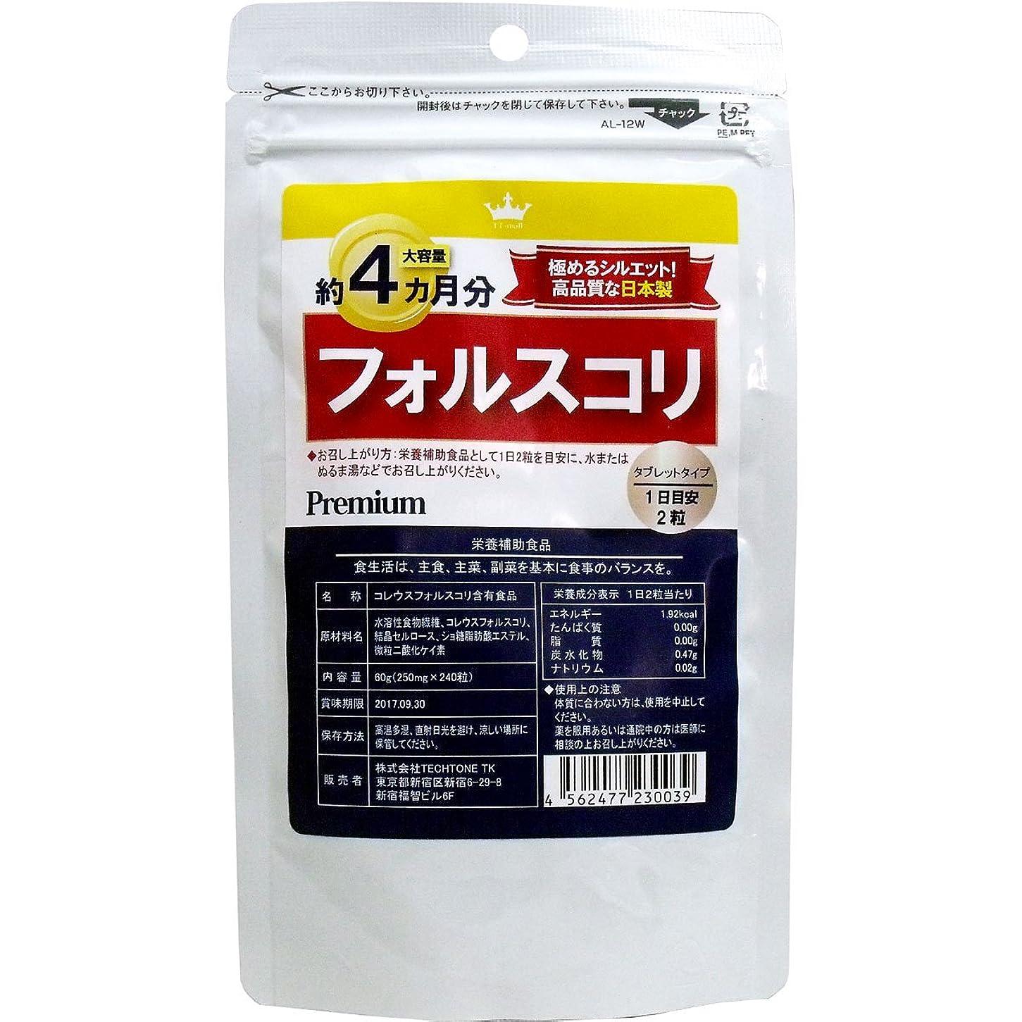 変色するスーダンナチュラサプリ 高品質な日本製 話題の フォルスコリ 約4カ月分 240粒入【1個セット】