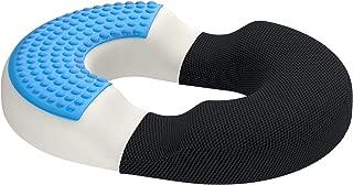 bonmedico Firm Orthopedic Hemorrhoid Pillow, Memory Foam Gel Donut Cushion for Hemorrhoid Treatment & Coccyx Pain Relief, Donut Seat Cushion for Home, Office, Car & Wheelchair, Donut Pillow, Standard