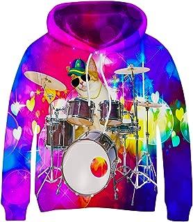 Kayolece Boys Girls Hoodies 3D Unisex Printed Pullover Hooded Sweatshirts with Big Pocket for Kids 3-14Y