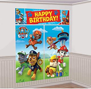 American Greetings Nickelodeon, Paw Patrol Scene Setter Wall Decorations, 5-Count