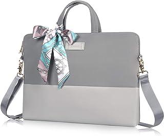 Kamlui Laptop Bag 15.6 Inch - for Women Computer Shoulder Messenger Laptop Case (Gray)