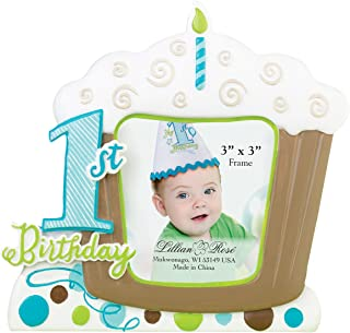 Lillian Rose 1st Birthday Picture Frame, Blue, 5.75