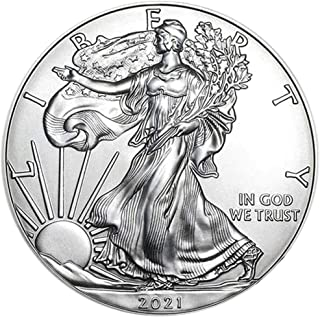 2021 American Silver Eagle .999 Fine Silver with Our Certificate of Authenticity Dollar Uncirculated US Mint
