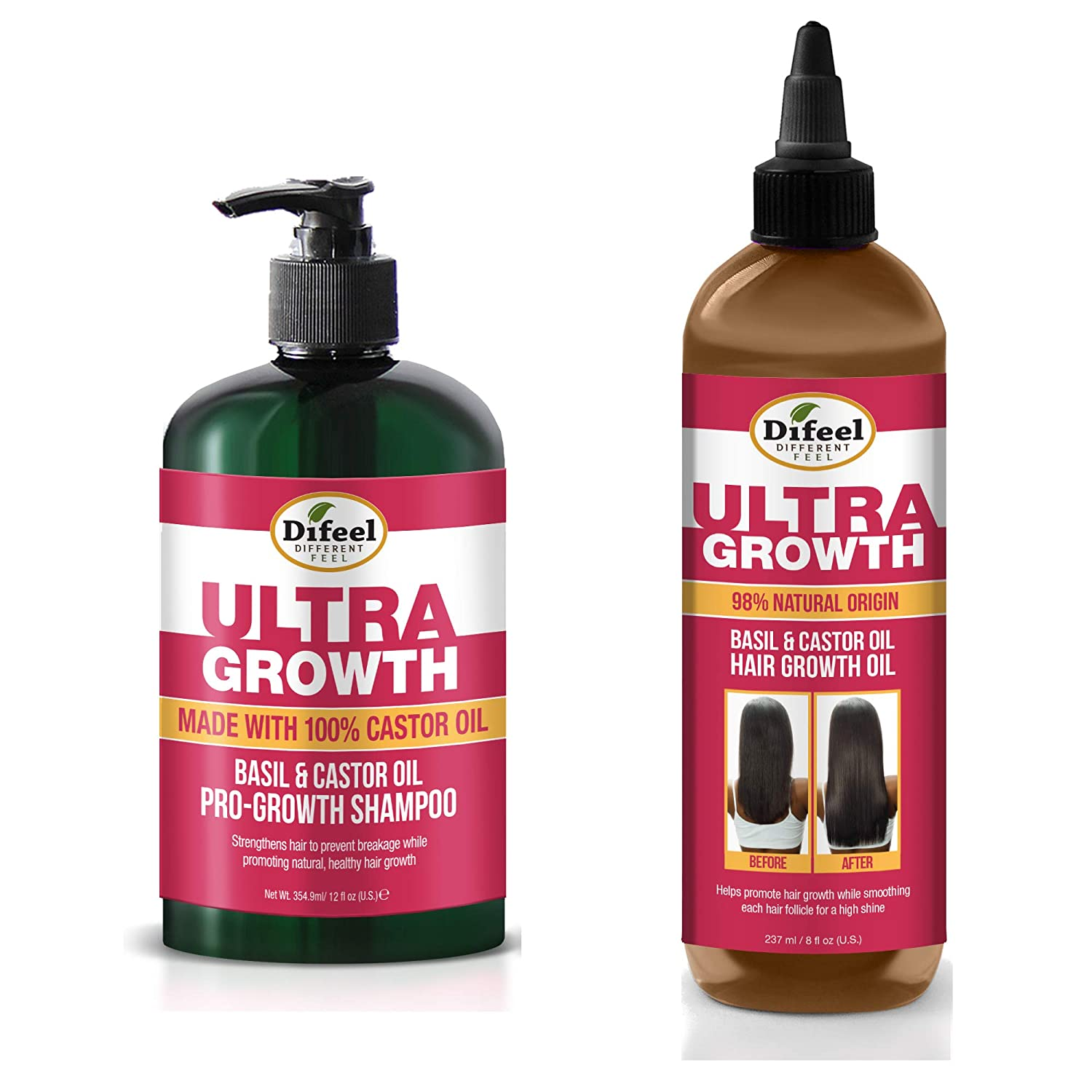Difeel Ultra Growth Shampoo Hair Includes 2-PC Set - New Over item handling Orleans Mall Oil