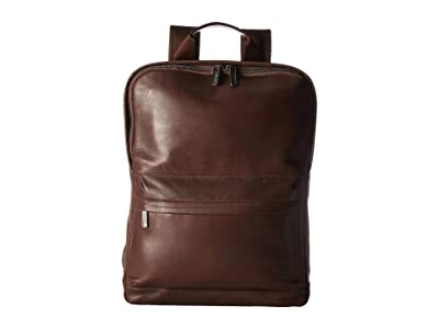KNOMO London Barbican Brackley Laptop Backpack (Dark Brown) Backpack Bags