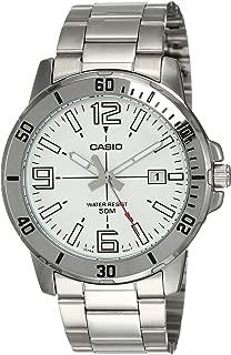 MTP-VD01D-7BV - Reloj Deportivo analógico Casual para Hombre (Acero Inoxidable), Color Blanco