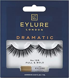 Eylure Dramatic False Lash, Style No. 126, Reusable, Adhesive Included, 1 Pair