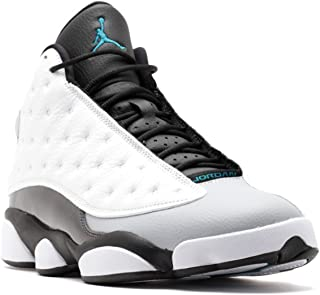 Jordan Air 13 Retro Hologram Men's Shoes White/Tropical Teal-Black-Wolf Grey 414571-115