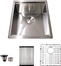HFS (R) 17X19X10.5IN Undermount 16 Gauge Tight Radius Stainless Steel Kitchen Sink Single Bowl