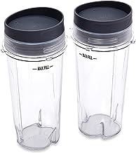 Ninja Single Serve Cups with Lids, Clear, 16-Ounce