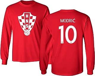 Tcamp Croatia 2018 National Soccer #10 Luka MODRIC World Championship Men's Long Sleeve T-Shirt