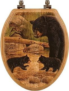 Bear Creek Gang Wood Toilet Seat - Elongated