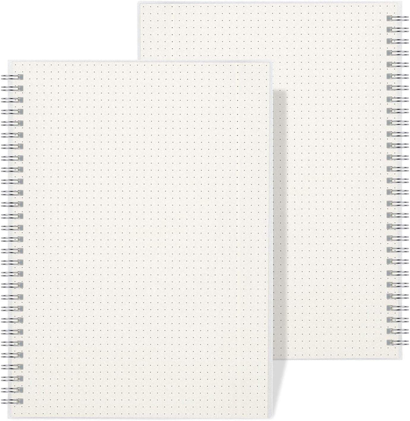 Spiral Dot Grid Notebook Wiisdatek Dotted Bullet A5 sale Journal Max 45% OFF Note