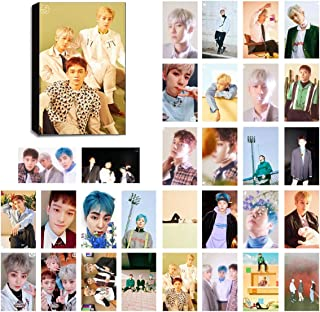 KPOP EXO Lomo Cards EXO-K & EXO-M Photocard Set of 30 for EXO-L Fan with Greeting Card Postcards Box (CBX BLOOMING DAYS)