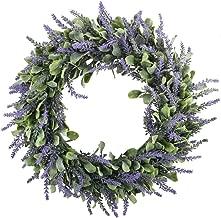 Best artificial lavender wreath Reviews