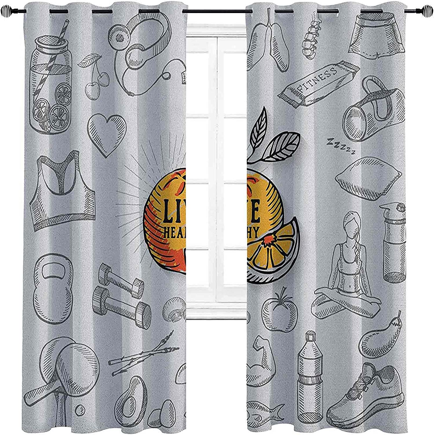Fitness Blackout Curtains Cash special price National products - Gasket Live Them Healthy Insulation