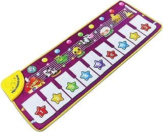 Nori Piano Mat, Foldable Musical Mat [ 39'' x 14'', 14 Keys ] Baby Dance Music Piano Carpet Blanket Toys  Kids Girls