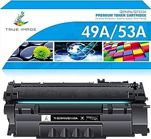 TRUE IMAGE Compatible Toner Cartridge Replacement for HP 49A Q5949A 1320 Toner 49X Q5949X 53A Q7553A HP Laserjet 1320 1320n 1160 3390 P2015 P2015dn Toner Cartridge Ink (Black, 1-Pack)