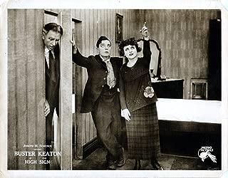 Posterazzi The High Sign Lobbycard Buster Keaton (Center) Bartine Burkett (Right) 1921. Movie Masterprint Poster Print (28 x 22)