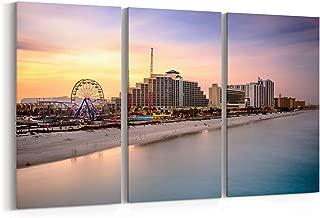 Daytona Beach Skyline Canvas Daytona Beach Canvas Art Daytona Beach Wall Art Canvas Multiple Sizes Gallery Wrapped Canvas on Pine Wooden Frame