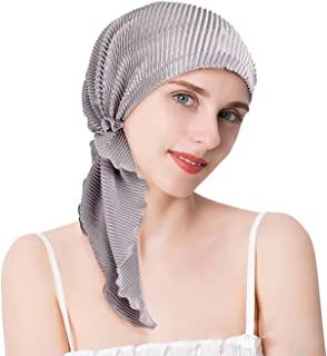 67afc6574a EINSKEY Turban Femme Mode Chic Été Foulard Bandana Hijab pour Chimio,  Cancer, Douche,