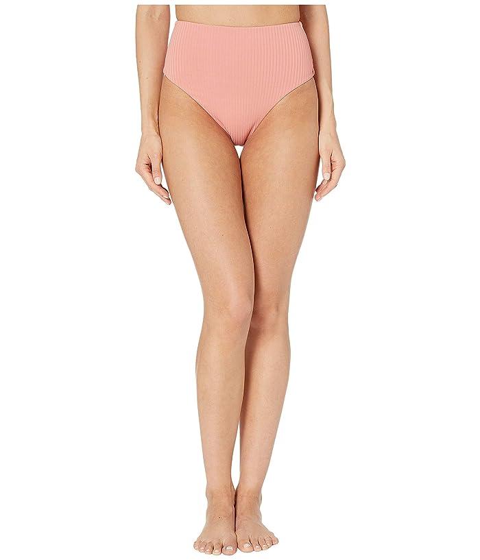 Vitamin A Swimwear Lupe Bottoms (Soft Coral EcoRib) Women