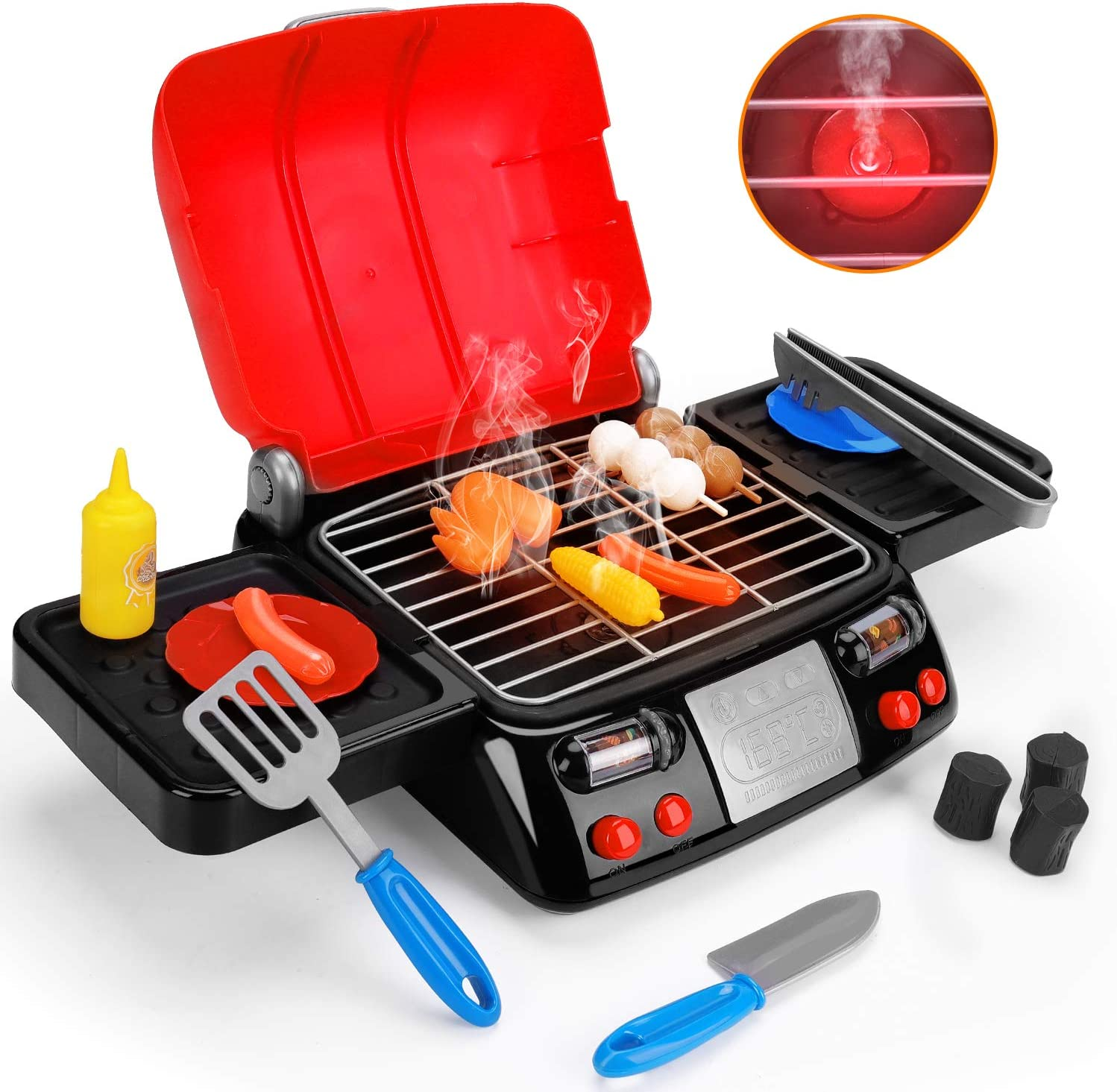 Kids Luxury Play Food Grill with Light Smoke Sound Kitchen Pretend Ranking TOP16