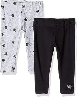 DKNY Baby Girls 2 Pack Printed Heart Legging Set