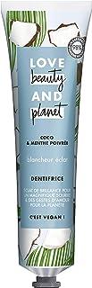 Love Beauty And Planet Dentifrice Blancheur Vegan, Blancheur Éclat, Menthe poivrée et..