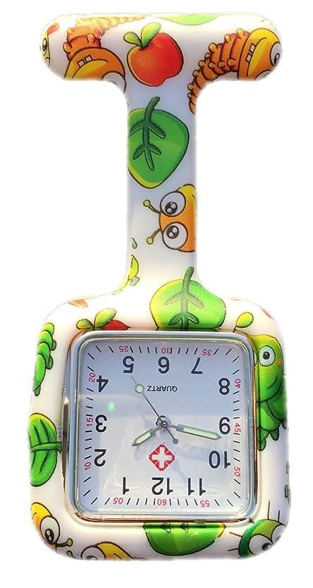カスタムミサイル誇りに思うNurses Fashion Coloured Patterned Silicone Rubber Fob Watches Infection Control