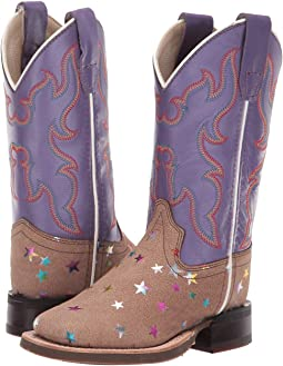 a851e91b086f Old west kids boots square toe boot w lightning stitch top toddler ...