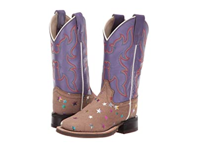 Old West Kids Boots Emily (Toddler/Little Kid) (Light Brown) Cowboy Boots