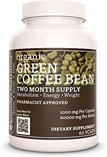 Green Coffee Bean Mega Strength 1,000 mg Vegan VCaps (Please See Supplement Facts for List of Organic Ingredients)