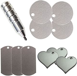 The Etching/Engraving Tool for the Silhouette by Chomas Creations and Stamping Blanks: Round, Heart, and Dog Tags