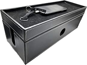 NEET Cable Management Box Large, Computer Cord Organizer, Hide and Conceal, Power Cable Organizer, Computers and Desks, Bl...